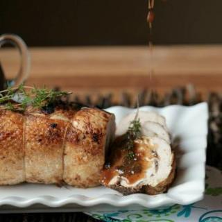Turkey Roulade with Mushrooms