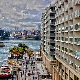 Circular Quay walk Sydney Australia by Jason Kryger - City,  Street & Park  Street Scenes ( circular, harbour, quay, opera, house, bridge, sydney )