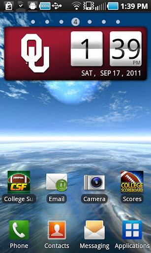 Oklahoma Sooners Clock Widget
