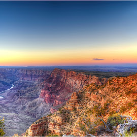 Sunset at Desert View by Dennis Ba - Landscapes Deserts ( colorado river, painted desert, grand canyon )