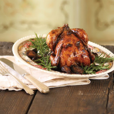 Cornish Hen in Port Wine and Fig Preserves