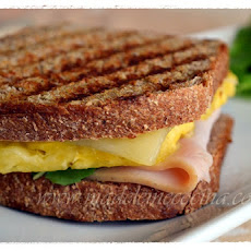 Ham, Cheese, and Pineapple Sandwich
