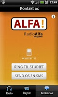 Screenshot of Radio Alfa Midtjylland