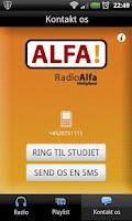 Screenshot of Radio Alfa Midtjylland