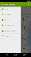 Screenshot of Arrivo Brisbane Transit App