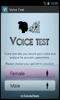 Screenshot of Voice Test