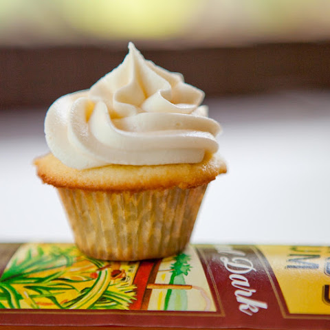 Rum Cake Cupcakes with Caramel Rum Frosting