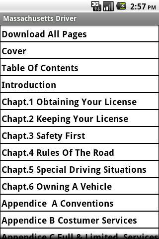 Massachusetts Driver Handbook