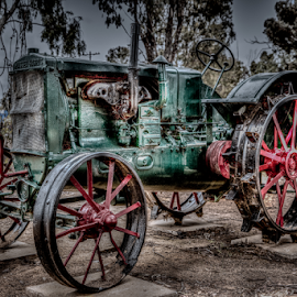 1900's Tractor by Allyn Cooper - Digital Art Things ( antiques and memorabilia, tractors, brookton, hdr, farming, western australia )