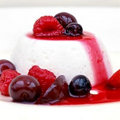 Fromage Frais Creams with Red Fruit Compote