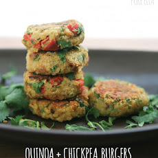 Quinoa + Chickpea Burgers | gluten-free and vegan