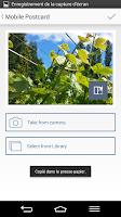 Screenshot of bpost Mobile Postcard