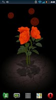 Screenshot of 3D Rose Bouquet LWP Free
