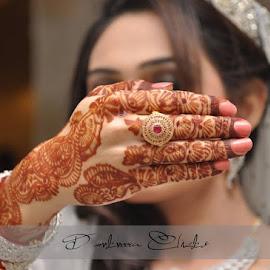 Bride Show Off Ring by Ch. Muhammad Yunas - Wedding Bride ( wedding photography, bridal, wedding, wedding rings, wedding photographer, bride )