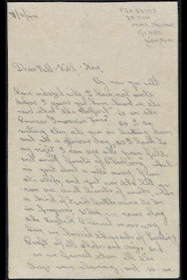 Letter from Able Seaman A Jones on board HMS Belfast