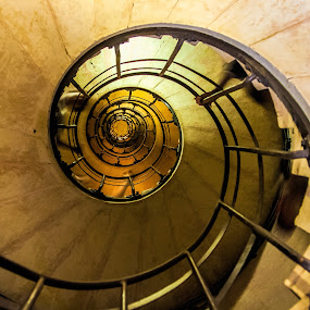 spiral stairs by Vibeke Friis - Buildings & Architecture Architectural Detail ( paris, stairs, arc de triomphe, france, round, spiral, curves,  )