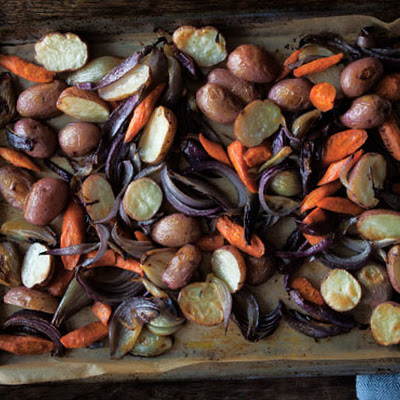 Roasted Potatoes, Onions, and Carrots