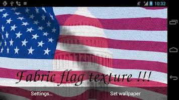 Screenshot of 3D US Flag Live Wallpaper +