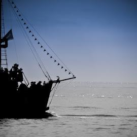 Pirate Ship by Lori Louderback - Transportation Boats