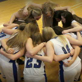 team huddle by Mickey Carson-preston - Sports & Fitness Basketball