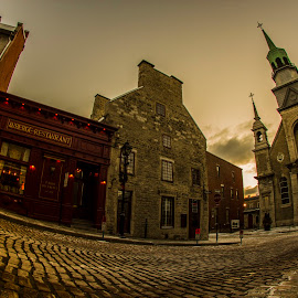 Old Montreal by Faisal Abuhaimed - City,  Street & Park  Historic Districts ( sunrise )