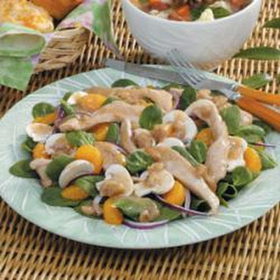 Warm Chicken Spinach Salad