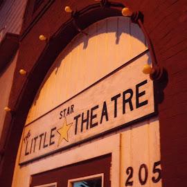 Little Stare Theatre  by Mckenzie Geir - City,  Street & Park  Historic Districts ( lights, north dakota, historic theater, shows )