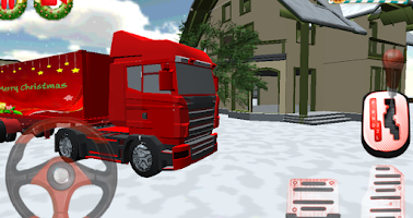 Screenshot of Christmas Truck Parking 3D
