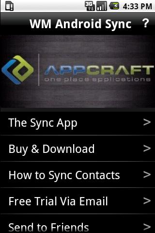 WM Android Contact Sync