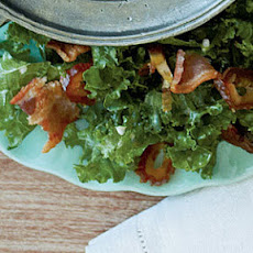 Shredded Kale Salad with Bacon and Dates