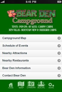 Bear Den Mobile App - screenshot