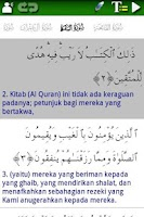 Screenshot of Al Quran (Al-Zikar Indonesian)