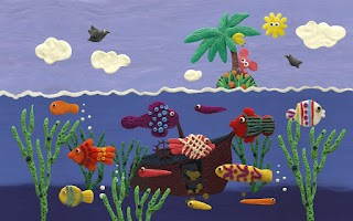 Screenshot of Plasticine ocean Wallpaper