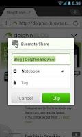 Screenshot of Dolphin: Evernote Add-on