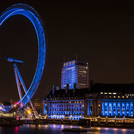 Blue Eye by Jason Aspland - Buildings & Architecture Public & Historical ( amazing, london, blue, longexposure, eye )