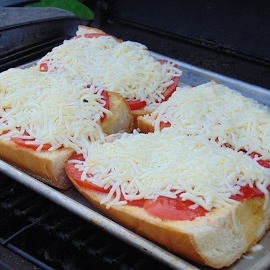 Tomato Bread by James Peters - Food & Drink Cooking & Baking ( grill, tomato, bread, food, cheese )