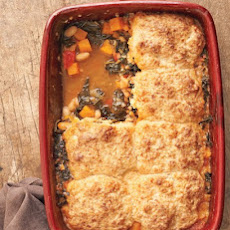 Minestrone and Parmesan Biscuit Potpie