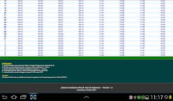 Screenshot of Jadwal Imsakiyah 1434H   2013M