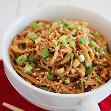 Simple Asian Soy-Peanut Noodles