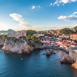 Dubrovnik by Stephen Bridger - City,  Street & Park  Vistas ( adriatic, europe, dubrovnik, vista, old town, croatia, sea, ocean, view, travel, walled city, travel photography )