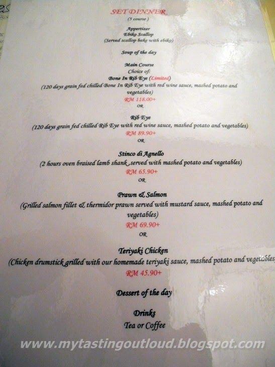 Menu Western Food Malaysia
