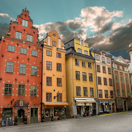 Colors of Stockholm by Matt Shell - City,  Street & Park  Street Scenes ( sweden, stockholm, color, buildings, city )