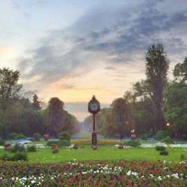 Park in Bucharest. Sunset, taken with iPhone using ProHDR app. by Michael Hudgens - Digital Art Places (  )