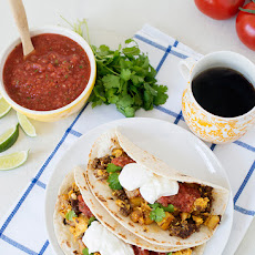 Breakfast Tacos and Resturant Style Habanero Salsa