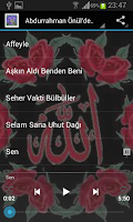 Screenshot of Abdurrahman Önül İlahileri