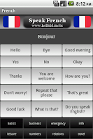 Screenshot of Speak French