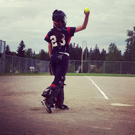 Catcher #23 by Marisa Meneses - Sports & Fitness Baseball