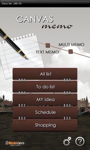 Canvas memo Tablet