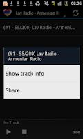 Screenshot of Armenian Radio Music & News