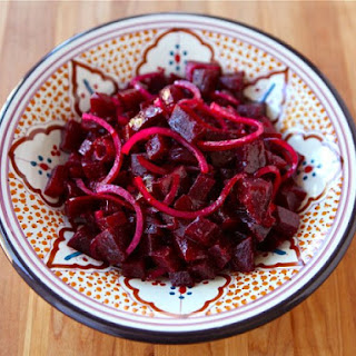 Roasted Beet and Red Onion Salad